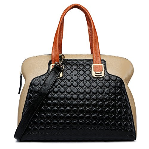 ZOOLER Genuine Leather Handbags for Women Slim Shoulder Bags Black Purse by ZOOLER