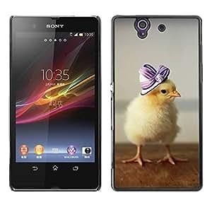 Smartphone Rígido Protección única Imagen Carcasa Funda Tapa Skin Case Para Sony Xperia Z L36H C6602 C6603 C6606 C6616 Cute Baby Duckling / STRONG