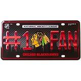 Chicago Blackhawks #1 Fan Metal License Plate Tag NHL Hockey