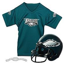 Franklin Sports NFL Philadelphia Eagles Replica Youth Helmet and Jersey Set