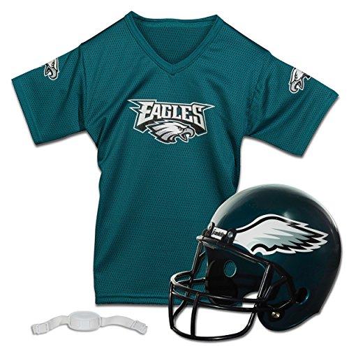 Franklin Sports NFL Philadelphia Eagles Replica Youth Helmet and Jersey (Football Eagles)