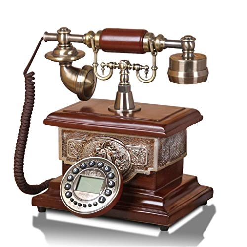 Hotel Speakerphone Line 2 (19-Yiruculture Home Wired Telephone Retro Phone with Rotary dial Phone European Resin Phone Home European Retro Phone Fashion Phone (Color : Handsfree Backlight Version))