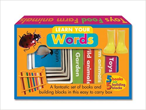 f2fb247015 Learn Your Words: A fantastic set of books and building blocks in this easy  to carry box (Books and Blocks) 1st Edition
