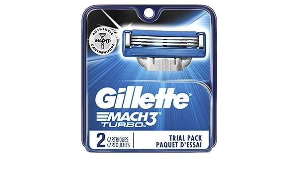 Amazon.com: Gillette Mach3 Turbo Mens Razor Blades, 2 Blade Refills: Beauty