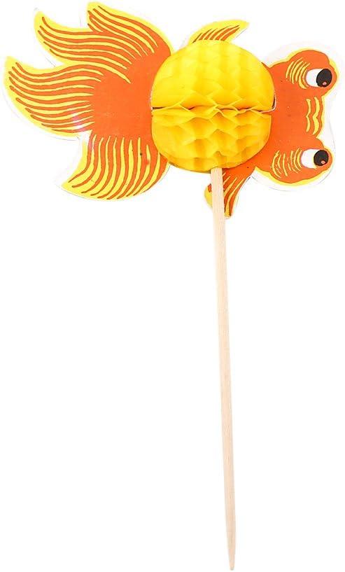 Zerodis 50pcs Boisson G/âteau aux fruits B/âtonnets Pics /à Cocktail Sticks Cupcake Toppers Parapluie Paon Goldfish D/écorations de f/ête de mariage Restaurants Buffets Articles de f/ête #5