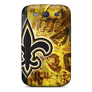 PopFront Case Cover For Galaxy S3 - Retailer Packaging New Orleans Saints Protective Case