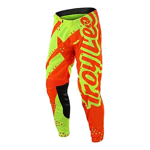 (Troy Lee Designs Men's Offroad Motocross SE Air Pant Shadow (34, Flo Yellow/Orange))