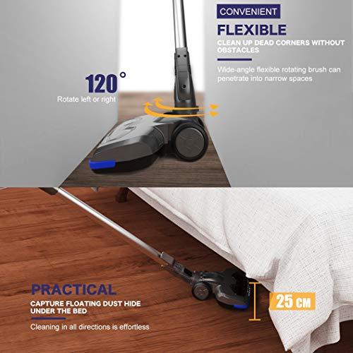 MOOSOO Vacuum Cleaner 2 1 Stick Vacuum with Suction Car -
