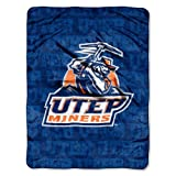 The Northwest Company Officially Licensed NCAA Texas El Paso Miners Micro Raschel Throw Blanket, 46'' x 60''