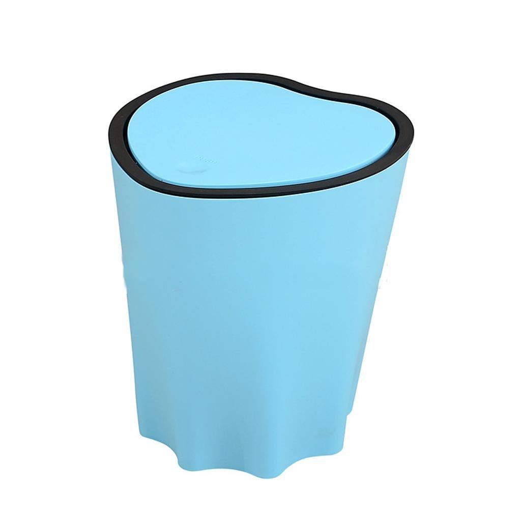 xiaowu Cubo de Basura,Creativo en Forma de corazón de de de Las cáscaras latas de Basura, Sala de Estar en casa, Dormitorio Anti-Olor Cubierto Basura, 3 51f3b6