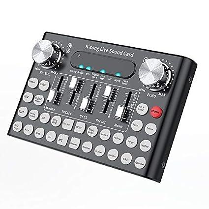 EDTara DC5V 1A K-Song Studio Audio Mixer Microphone Webcast