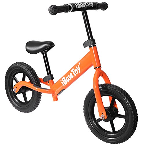 iBaseToy Kids Balance Bike for Boys and Girls - No Pedal Sport Training Walking Bicycle with Carbon Steel Frame, Adjustable Handlebar and Seat - Kids Glider Bike for Children Ages 2 to 6 Years Old