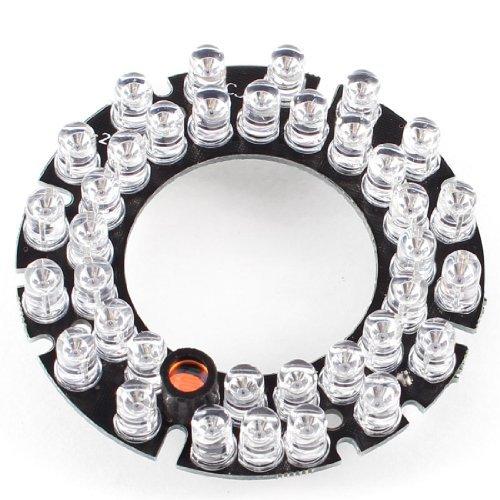 Placa CCTV câmera CCD de 90 graus lâmpada vermelha 36 LEDs IR Infrared Board