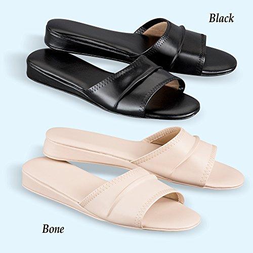 Zapatillas Slip On Clásicas - Leather Look Bone