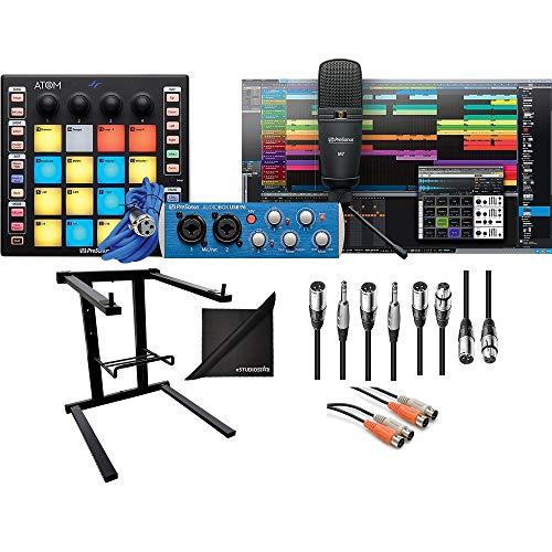 - PreSonus ATOM Producer Lab Production Kit w/Audio Cables, Laptop Stand and eStudioStar Polishing Cloth