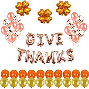Thanksgiving Day Party Decoration Balloons Thanksgiving Letter Aluminum Film Balloons Packages Background Wall Decoration Balloons
