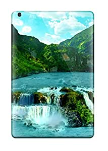 Snap On Case Cover Skin For Ipad Mini 2(tropical Waterfall Background)