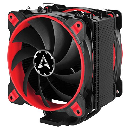 ARCTIC Freezer 33 Esports Edition - Tower CPU Cooler with Push-Pull Configuration I Silent 3-Phase-Motor and Wide Range of Regulation 200 to 1800 RPM I Includes 2 Low Noise 120 mm Fans - Red -