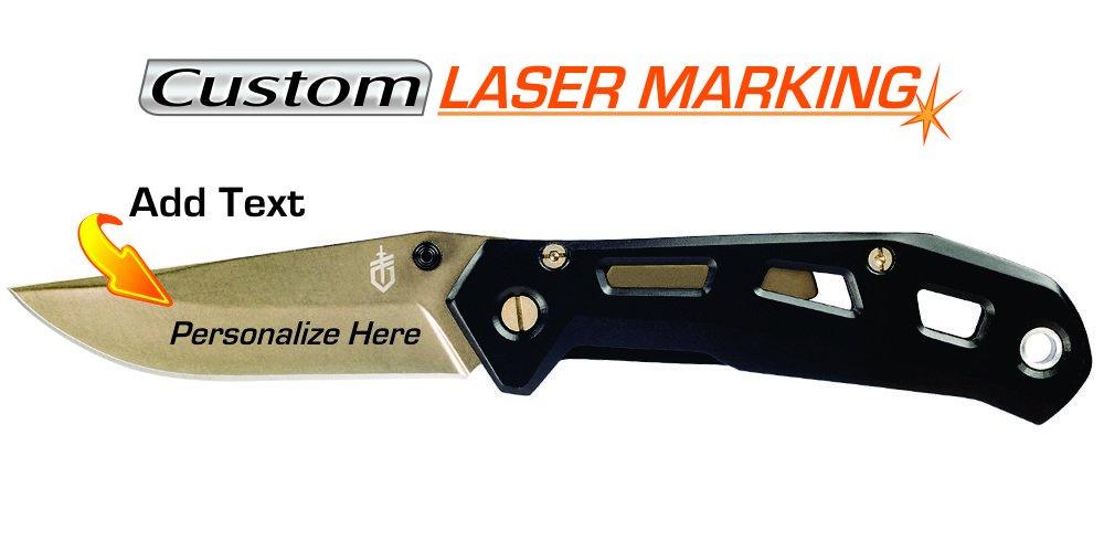 Custom Laser Engraved Knife - Gerber Airlift Black (30-001347)