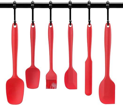 Compra GWHOLE Kit de 6 Piezas Espátulas de Silicona para Repostería Juegos Utensilios de Cocina, Cepillo, Raspador Antiadherente Fácil de Limpiar en Amazon.es