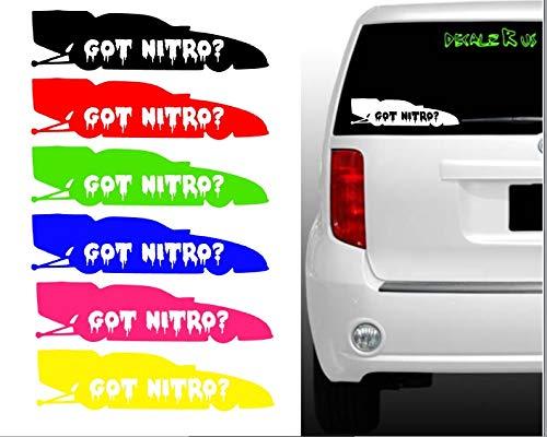 Got Nitro Funny Car Vinyl Decal - NHRA Racing Truck Window Sticker Color Force - Car Funny Nitro