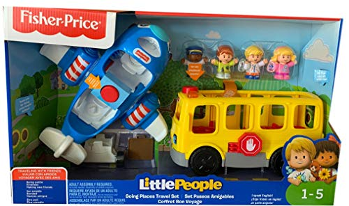 Fisher Price Little People Going Places Travel Bus /& Plane Gift Set With Figures