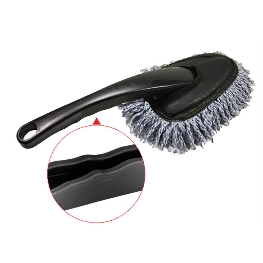 CP627-Blue KEISL Cepillo Especial para Coches,Cepillo de Limpieza Coche,Plumero s/úper Suave de Microfibra para autom/óviles Limpieza Interior del autom/óvil y Cepillo de Uso dom/éstico,30 Azul 15CM
