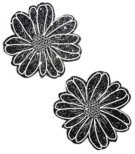 Pastease Mujer Negro brillo Con Blanco Flor silvestre Pasties  Amazon.es   Ropa y accesorios 9ee16f2f5e8