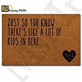 MsMr Doormat Entrance Floor Mat Funny Doormat Home and Office Decorative Indoor/Outdoor/Kitchen Mat Non-Slip and Non-Woven Fabric 23.6''x15.7'' - Just So You Know There's Like A Lot of Kids in Here