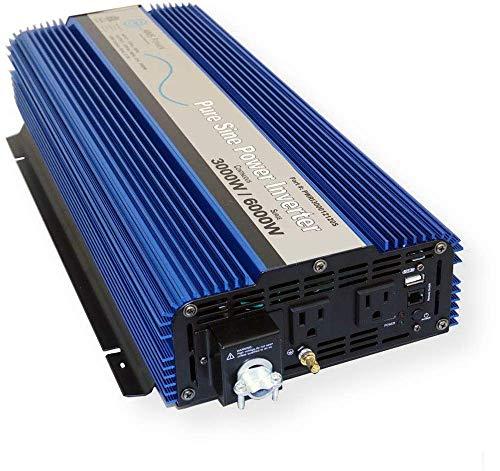 AIMS Power 3000 WATT Pure SINE Power Inverter 12 VDC to 120 VAC – UL Listed