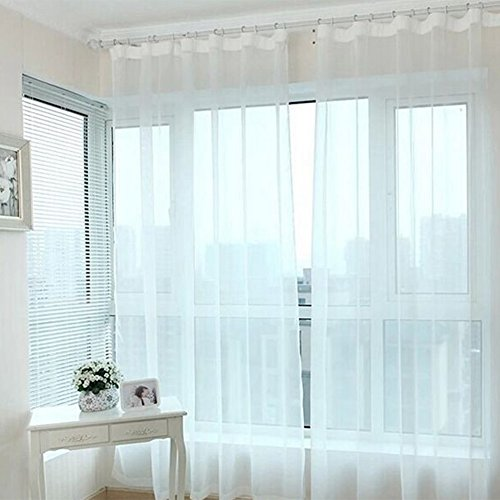elegantstunning Transparent Tulle Curtains for Living Room Balcony Bedroom by elegantstunning