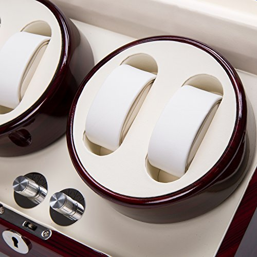 Watch Winder Case Automatic Quad Watches Jewelry Storage Cases Display Box by Gregarder (Image #5)