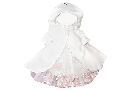 Capa de la chaqueta abrigo de bautizo para el bebé y una niña para el banquete