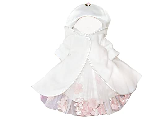 SÜSSER Mantel Baby zum Taufkleid Taufmantel weiss gesteppt Taufe NEU