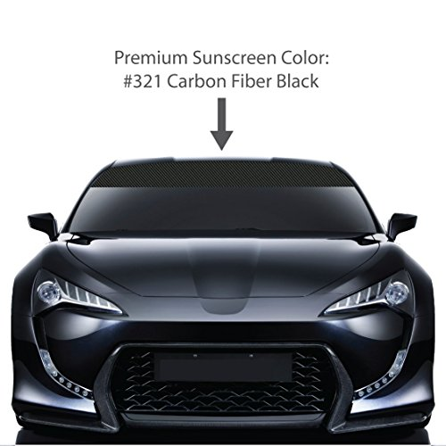 R Windshield Visor Sun Screens. / BLACK / Vinyl Stripes & Decals. / Custom Made for Cars Trucks Auto Vehicles Vans Windows. / universal sunscreen stickers. / By 1060 Graphics. ()