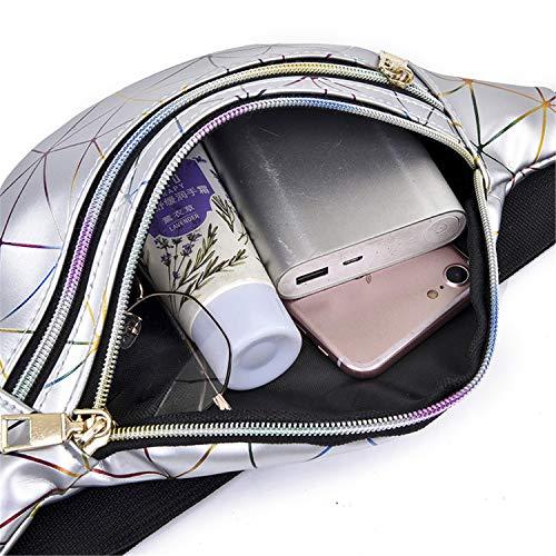 fcb49316a5e SHOPUS | Holographic Waist Bags Women Pink Silver Fanny Pack Female ...