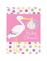 Pink Stork Baby Shower Invitations, 8ct BOBEBE Online Baby Store From New York to Miami and Los Angeles