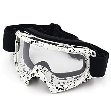 33a8cac9ea Gafas protectoras de ciclismo, de la marca Spohife, con protección UV,  White Frame,Transparent Lens: Amazon.es: Deportes y aire libre