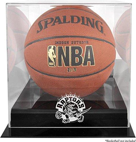 - Toronto Raptors Black Base Logo Basketball Display Case and Mirror Back