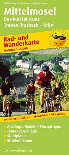 Mittelmosel, Bernkastel-Kues - Traben-Trarbach - Kröv: Rad- und Wanderkarte mit Ausflugszielen, Einkehr- & Freizeittipps und Stadtplänen, wetterfest, ... 1:25000 (Rad- und Wanderkarte / RuWK) Landkarte – Folded Map, 1. Juli 2014 PUBLICPRESS 3899200799
