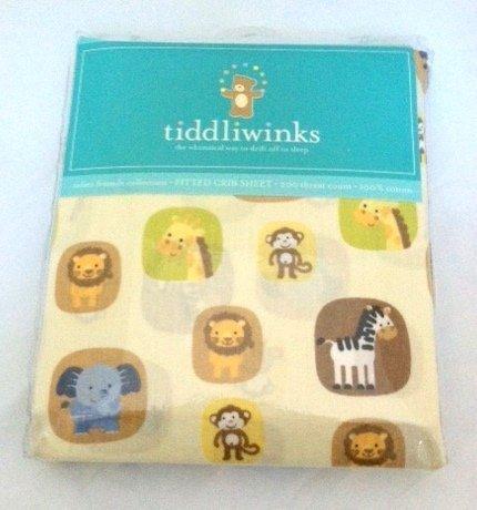 Tiddliwinks Safari Friends Fitted Jungle Sheet by Kids Line