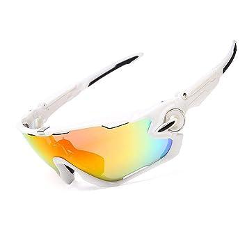 FRFG Gafas de Montar Gafas Deportivas al Aire Libre Gafas polarizadas Gafas de Sol, Todo Plateado: Amazon.es: Deportes y aire libre