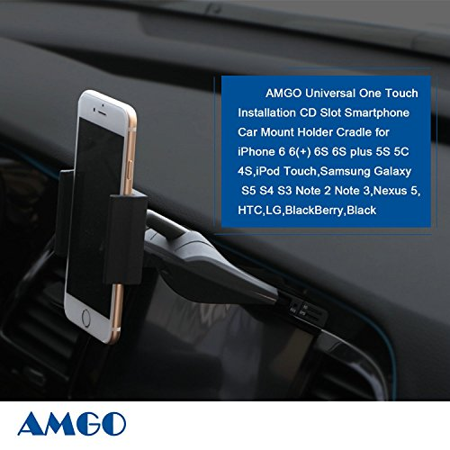 AMGO vehicle-mounted mobile scaffold, suitable for all cars, multi-function, rotated 360 degrees, single hand operation, the CD installation trough, is suitable for the iphone, samsung mobile phones