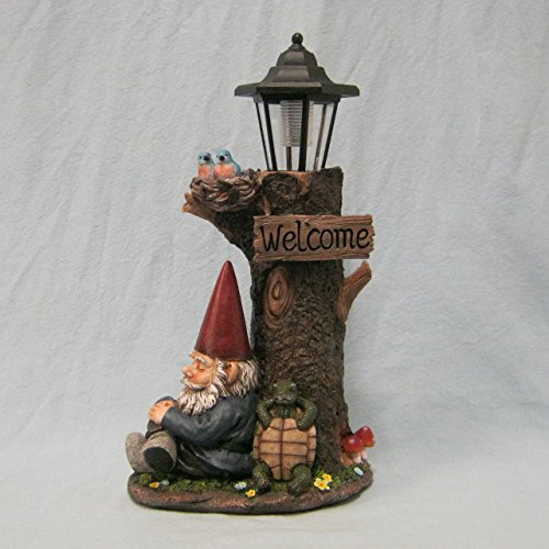 Nappy Station Lantern Light | Gnome and Turtle Tree Lantern for Patio (Gnome Lantern)