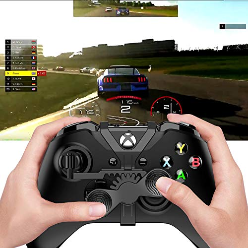 Xbox One Mini Steering Wheel, Xbox One Controller Add-on Replacement Accessories for All Xbox Racing Game (Black)
