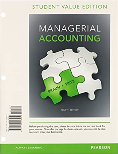 Managerial accounting student value edition plus new mylab managerial accounting student value edition plus new mylab accounting with pearson etext access card package 4th edition karen w braun fandeluxe Image collections