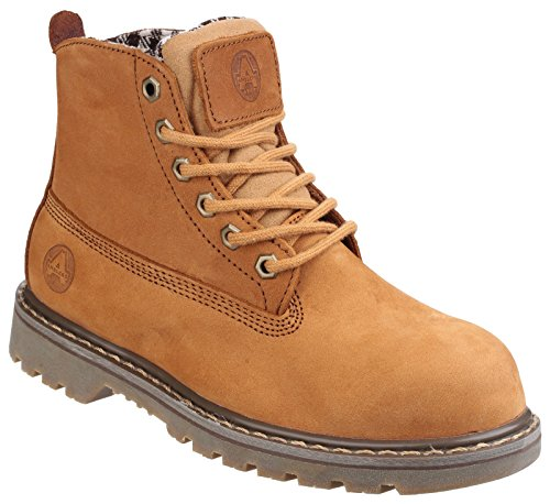 Amblers Womens Ladies Safety Boots/Tan Brown Goodyear Welted Laced Work