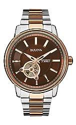 Bulova 98A140 Mens Two Tone Rose Automatic Watch