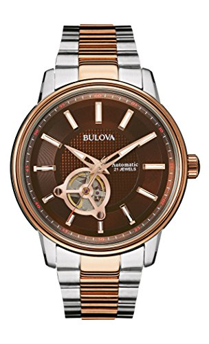 (Bulova 98A140 Mens Two Tone Rose Automatic Watch)