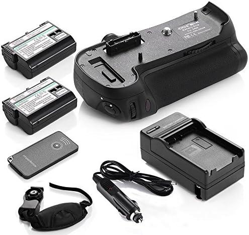 DSバッテリーグリップfor Nikon d800カメラ+ 2x en-el15バッテリー+充電器+ハンドグリップ